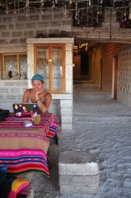 Dans l'hôtel de sel à Uyuni, Olympia