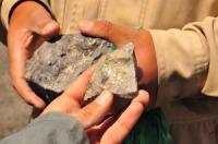 Bloc extrait de la mine, Potosi, Cerro Rico, Bolivie