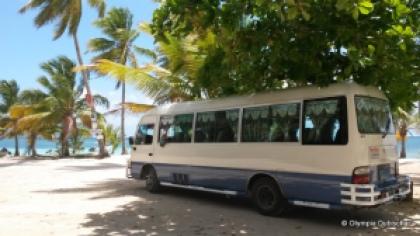 guagua bus de Las Galeras, Samana, République dominicaine
