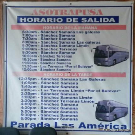Horaires des bus vers Las Galeras, Samana, République dominicaine